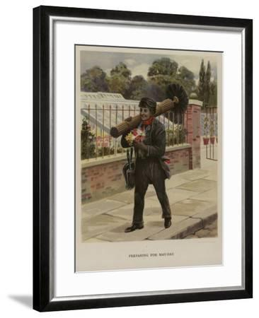 Preparing for May Day--Framed Giclee Print