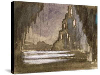 Set Design for 'Rusalka'-Franz Dvorak-Stretched Canvas Print