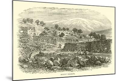 Mount Hermon--Mounted Giclee Print