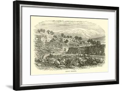 Mount Hermon--Framed Giclee Print