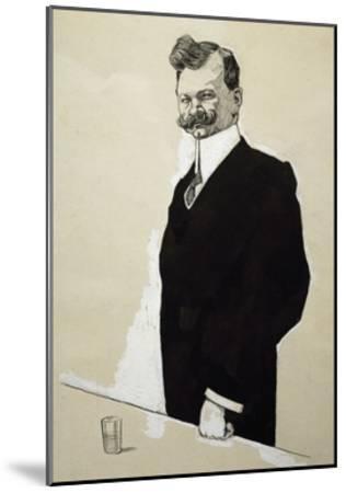 Caricature of Franz Lehar--Mounted Giclee Print
