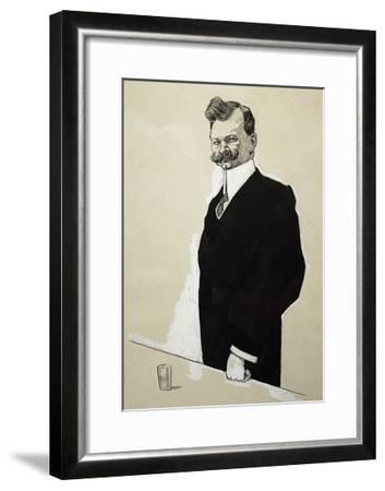 Caricature of Franz Lehar--Framed Giclee Print