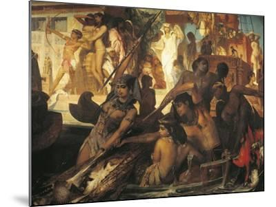 Hunting on Nile-Hans Makart-Mounted Giclee Print