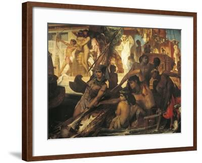 Hunting on Nile-Hans Makart-Framed Giclee Print