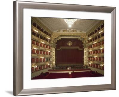 Interior of La Scala Opera House--Framed Giclee Print