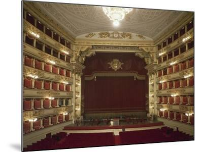 Interior of La Scala Opera House--Mounted Giclee Print
