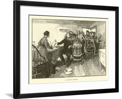 A Kissing Ordeal--Framed Giclee Print