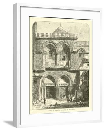 Church of the Holy Sepulchre at Jerusalem--Framed Giclee Print