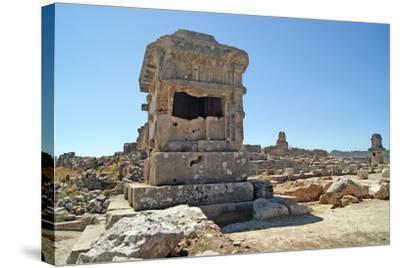 Pillar Tomb, Xanthos, Turkey--Stretched Canvas Print