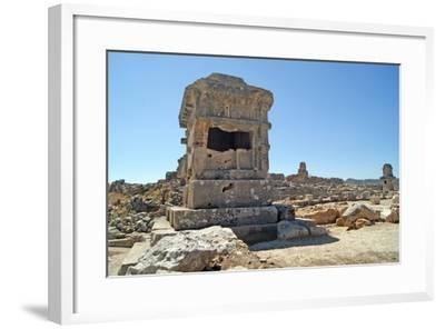 Pillar Tomb, Xanthos, Turkey--Framed Photographic Print