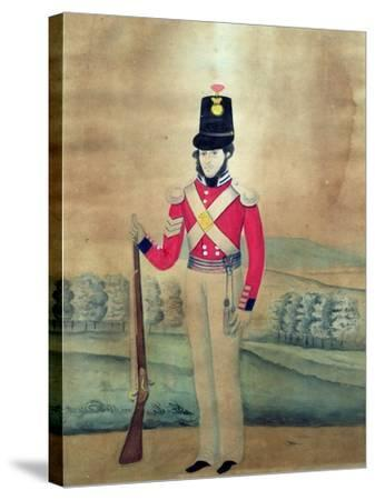 Sergeant, British Army, C.1815--Stretched Canvas Print