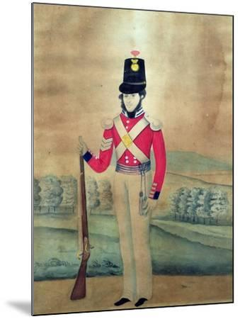 Sergeant, British Army, C.1815--Mounted Giclee Print