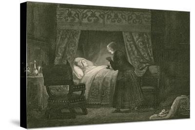 Judith Malmayus Meditating the Murder of Amabel-John Franklin-Stretched Canvas Print