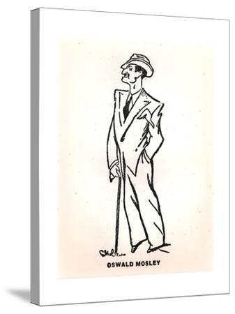 Caricature of Oswald Mosley--Stretched Canvas Print