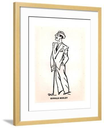 Caricature of Oswald Mosley--Framed Giclee Print
