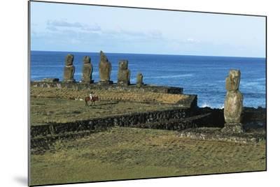 Moai--Mounted Giclee Print
