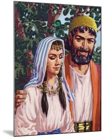 Issac and His Wife Rebekah-Pat Nicolle-Mounted Giclee Print