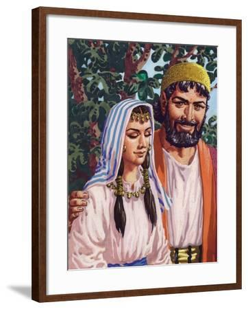 Issac and His Wife Rebekah-Pat Nicolle-Framed Giclee Print
