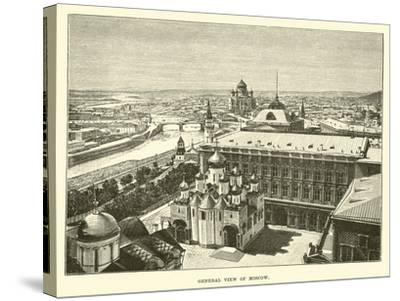 General View of Moscow--Stretched Canvas Print