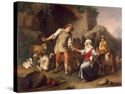 Country Scene-Francesco Londonio-Stretched Canvas Print