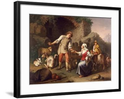 Country Scene-Francesco Londonio-Framed Giclee Print