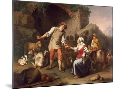 Country Scene-Francesco Londonio-Mounted Giclee Print