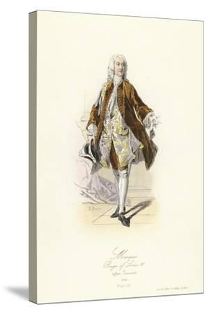 Marquis, Reign of Louis XV of France--Stretched Canvas Print
