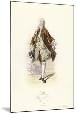 Marquis, Reign of Louis XV of France--Mounted Giclee Print