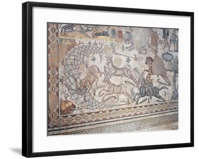 Mosaic of Little Hunt, Villa Romana Del Casale--Framed Photographic Print