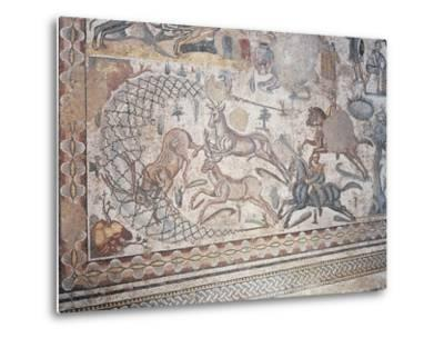 Mosaic of Little Hunt, Villa Romana Del Casale--Metal Print