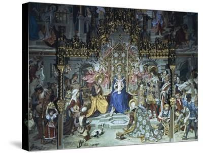 Nativity of Jesus, 1892, Ludwig Seitz--Stretched Canvas Print
