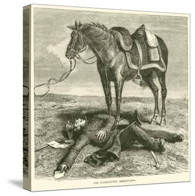 The Intercepted Despatches, January 1871--Stretched Canvas Print