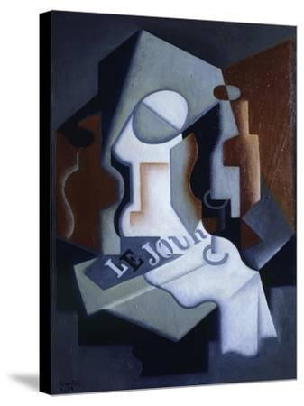 Still Life with Bottle and Fruit-Juan Gris-Stretched Canvas Print