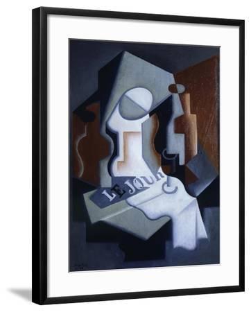 Still Life with Bottle and Fruit-Juan Gris-Framed Giclee Print