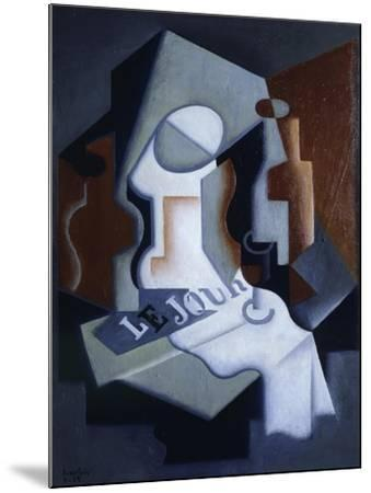 Still Life with Bottle and Fruit-Juan Gris-Mounted Giclee Print