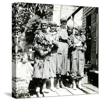 Powder Girls at the Brandywine Mills, C.1906-18--Stretched Canvas Print