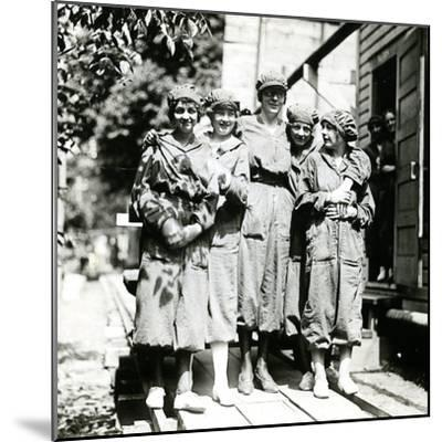 Powder Girls at the Brandywine Mills, C.1906-18--Mounted Photographic Print
