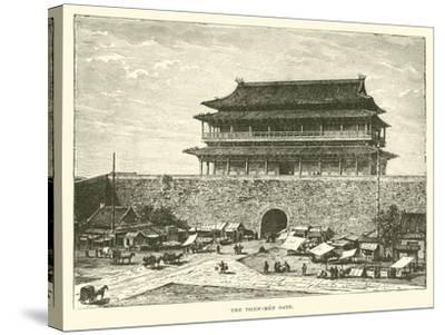 The Tsien-Men Gate--Stretched Canvas Print