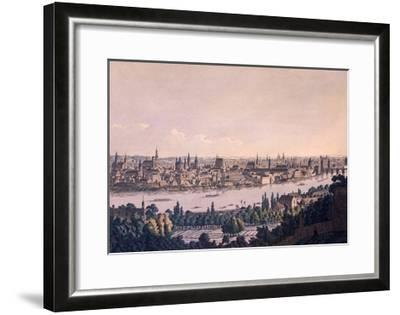 Old and New Towns of Prague-Vincenc Morstadt-Framed Giclee Print