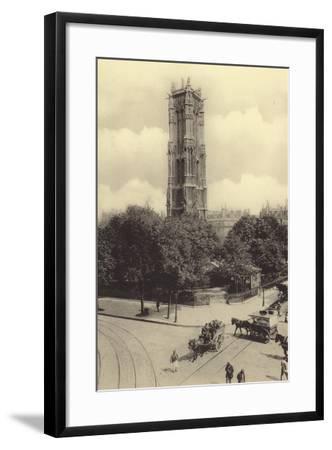 La Tour Saint-Jacques--Framed Photographic Print