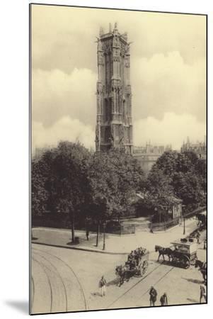 La Tour Saint-Jacques--Mounted Photographic Print