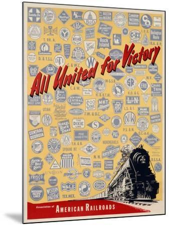 All United for Victory, C.1939-45--Mounted Giclee Print