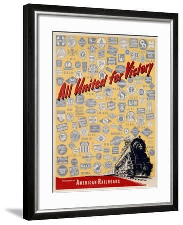 All United for Victory, C.1939-45--Framed Giclee Print