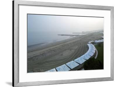 View of the Beach--Framed Photographic Print