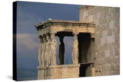 Caryatids Porch of the Erechtheion, Acropolis--Stretched Canvas Print
