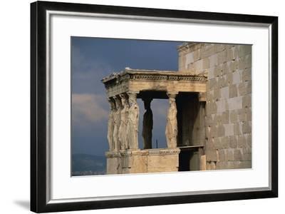 Caryatids Porch of the Erechtheion, Acropolis--Framed Photographic Print