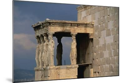 Caryatids Porch of the Erechtheion, Acropolis--Mounted Photographic Print