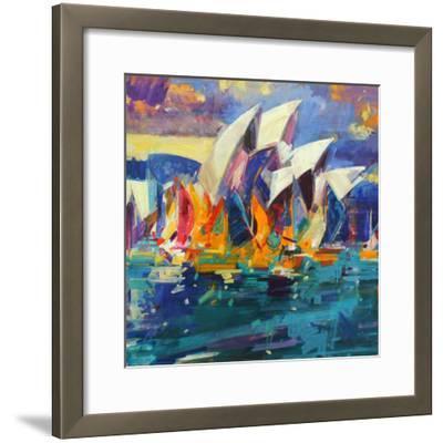 Sydney Flying Colours, 2012-Peter Graham-Framed Giclee Print