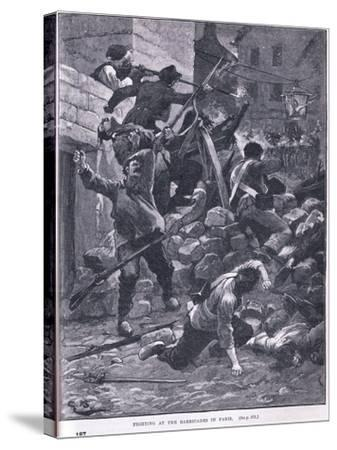Fighting at the Barricade Ad 1847-Gordon Frederick Browne-Stretched Canvas Print