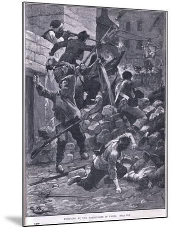 Fighting at the Barricade Ad 1847-Gordon Frederick Browne-Mounted Giclee Print